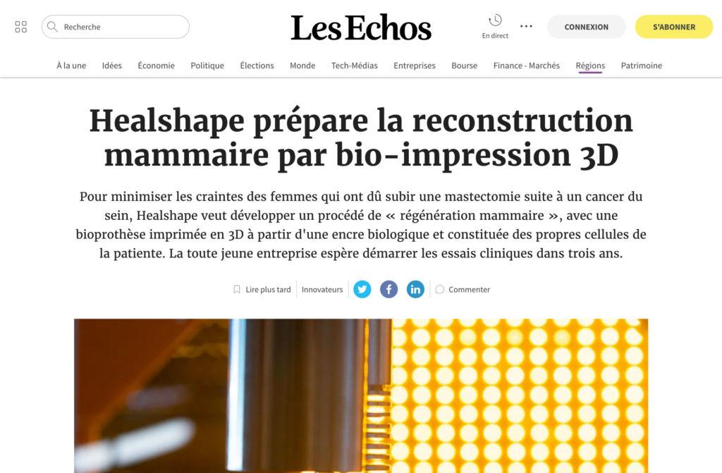 Press article in Les Echos